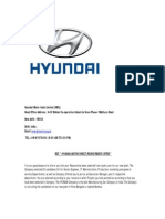 Hyundai Motor India Direct Recruitments Offer