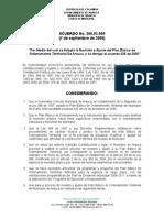 Acuerdo No. 200.02.009 7 de Septiembre p.b.o.t.