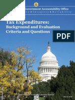 GAO Tax Expenditure