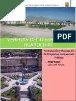 Proyectos de Inversión Pública Huarochiri