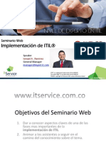 Webinar ITIL Implementacion Junio 2014