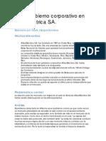 Caso Gobierno Corporativo en Atlas Eléctrica S.a.