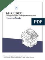 Muratec MFX-C3400 User Manual