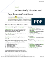 4-Hour-Body-Vitamins and Supplements Cheat Sheet
