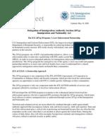 ICE Fact Sheet - 287(g) (5/19/09)