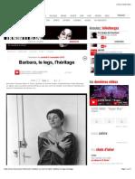 Barbara, Le Legs, l'Héritage