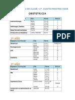 horario obstetricia