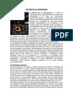 Historia de La Astronomia