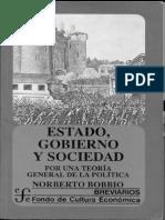 Bobbio Estado Gobierno y Sociedad