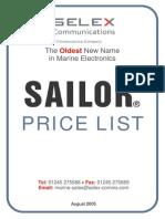Sailor Price List[1]