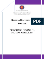 Bidding Documents for the Purchase of One (1) Motor Vehicle