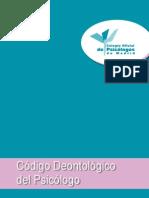Código Deontológico Del Psicólogo.