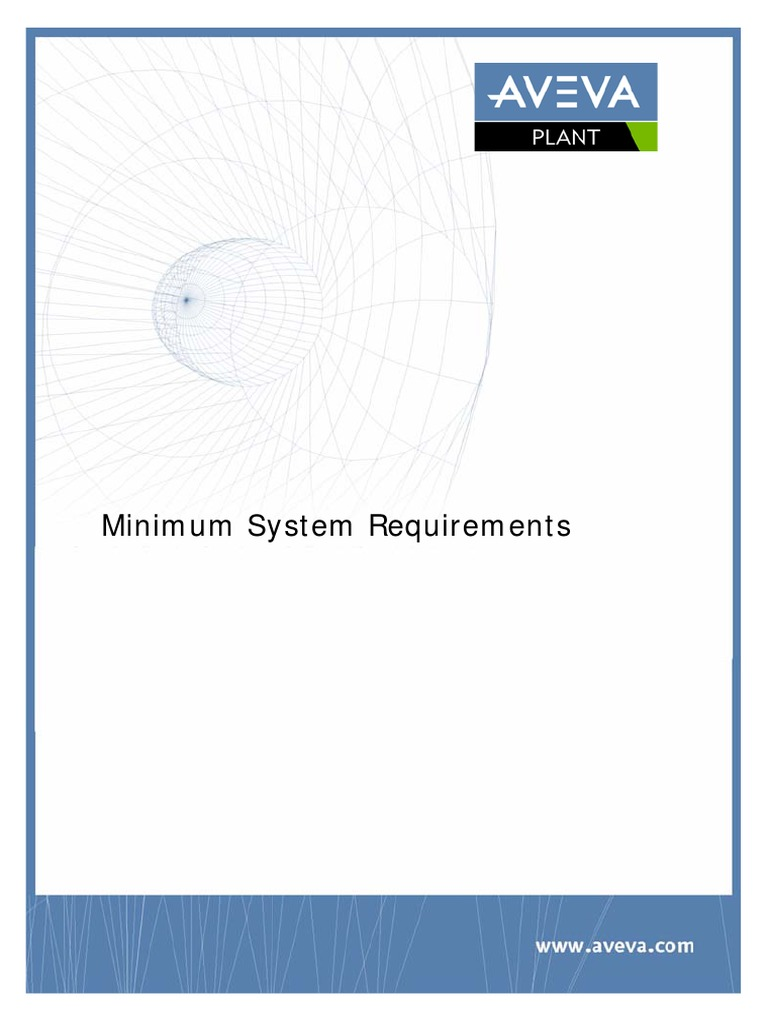 PDMS Minimum System Requirements Plant