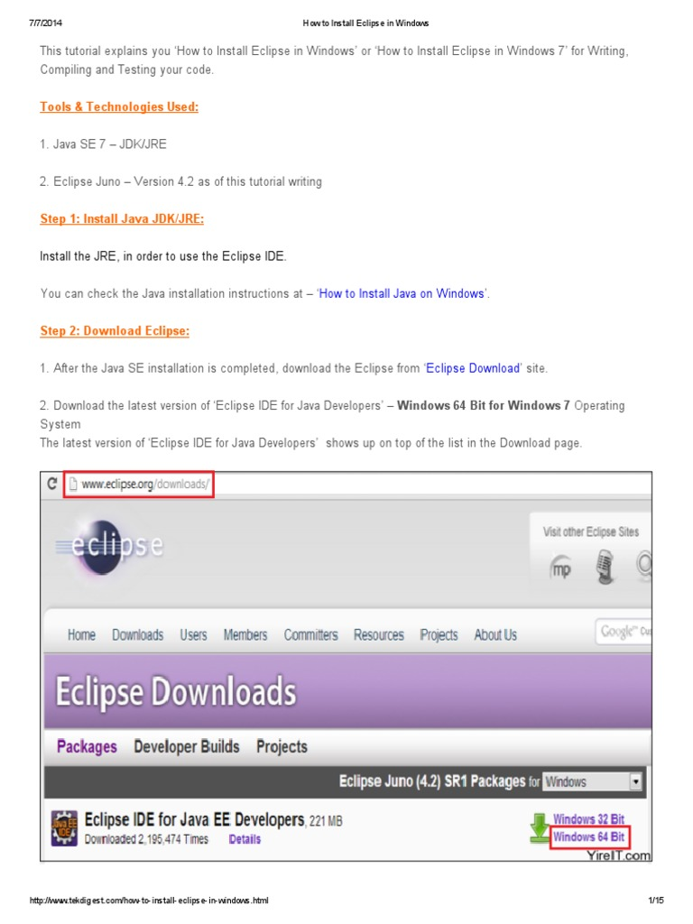 Download eclipse java latest version | Eclipse IDE for Java