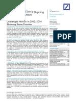 31. DB Dry Bulk Shipping 2013 Outlook