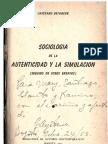 Cayetano Betancur, Sociología de la autenticidad y la simulación (seguido de otros ensayos)