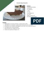 Chocolate Magic Mousse Pie