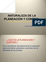 Tema Nº 28 Natural. de La Planeación y Control