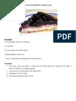 Fluffy Blueberry Cheesecake