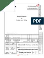 Method Statement for Ug Piping 6423dp420!00!00200 00_rev03