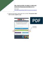Instructivo Para Postulacion via Web a La Beca de Especializacion en Pedagogia