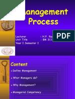 BM 311 Management Process Lession 1