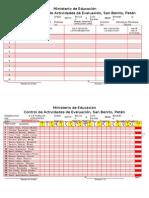 Control y Registros de Actividades San Benito 6to. a Llll
