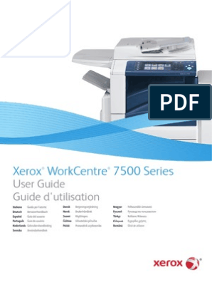 Xerox Workcentre 7535 Users Manual | Image Scanner | Ac