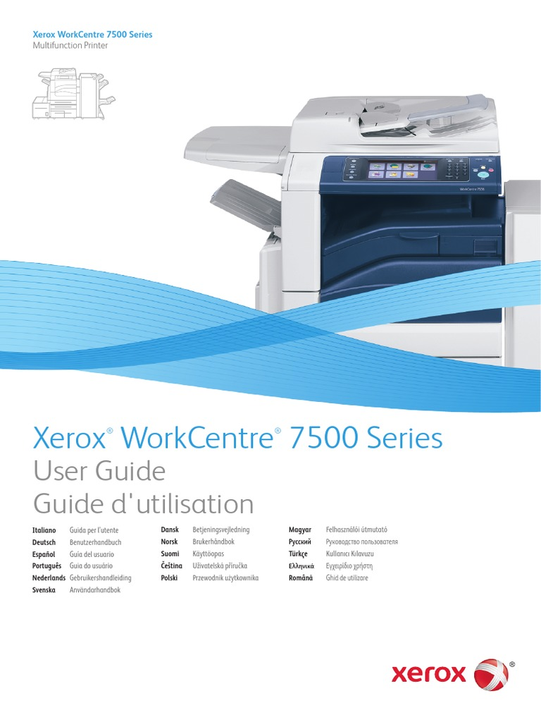 Xerox Workcentre 7535 Users Manual | Image Scanner | Ac Power Plugs And  Sockets