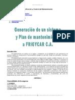 Generacion Sistema y Plan Mantenimiento