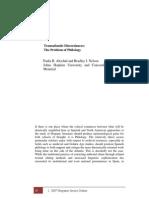 Altschul - Transatlantic Discordances. the Problem of Philology