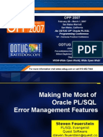 Error Management in Oracle PL/SQL