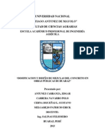 Informe de Dosificacion CONCRETO REFORZADO 2