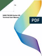 H600 700 900 Series HD Terminal User Manual