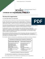 Técnicas de Negociacón. Parte I