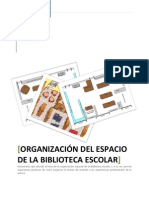 ORGANIZACIÓN DEL ESPACIO DE LA BIBLIOTECA ESCOLAR
