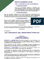 Ley Organica Del Ministerio Publico Decreto Numero 40-94