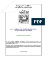 La Politica Exterior Argentina, De Menem a Kirchner