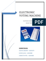 Electronic Voting Machine 8051