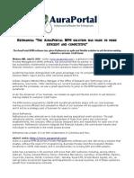 Refinancia the AuraPortal BPM Solution Has Made
