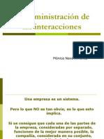 La administración de las interacciones