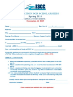 Application for Scholarships