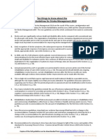 Clinical Guidelines Stroke Management 2010 Fact Sheet