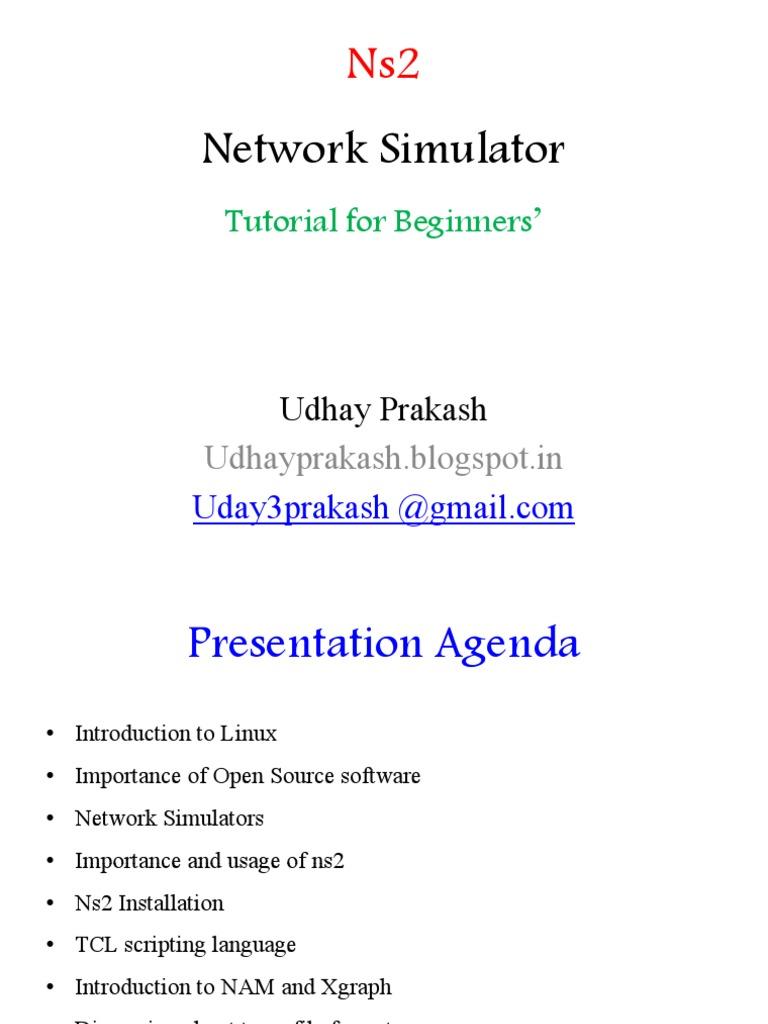 Ns2 Network Simulator- Tutorial for Begineers   Linux