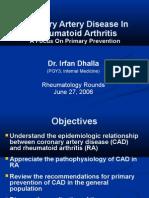 Coronary Artery Disease in Rheumatoid Arthritis