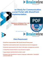 Case Study for Communication Social Portal with SharePoint Implementation
