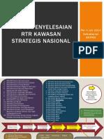 Status Penyelesaian RTR Kawasan Strategis Nasional per 4 Juli 2014