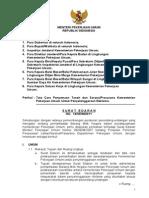 Surat edaran mentri PU no 14/SE/M/2011