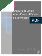 Analisis Ley Adopcion Michoacan