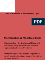 Role of Hormones in the Menstrual Cycle